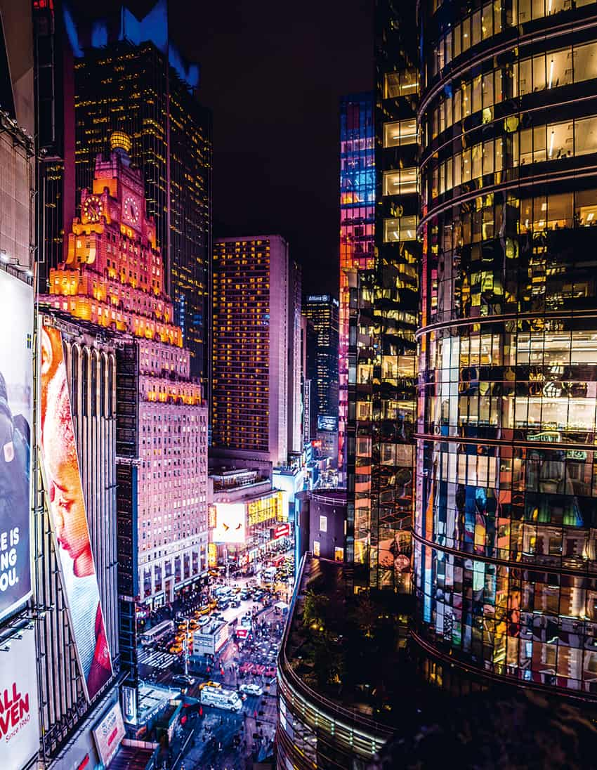 Looking at Times Square from a balcony reminds me of scenes from Blade Runner.