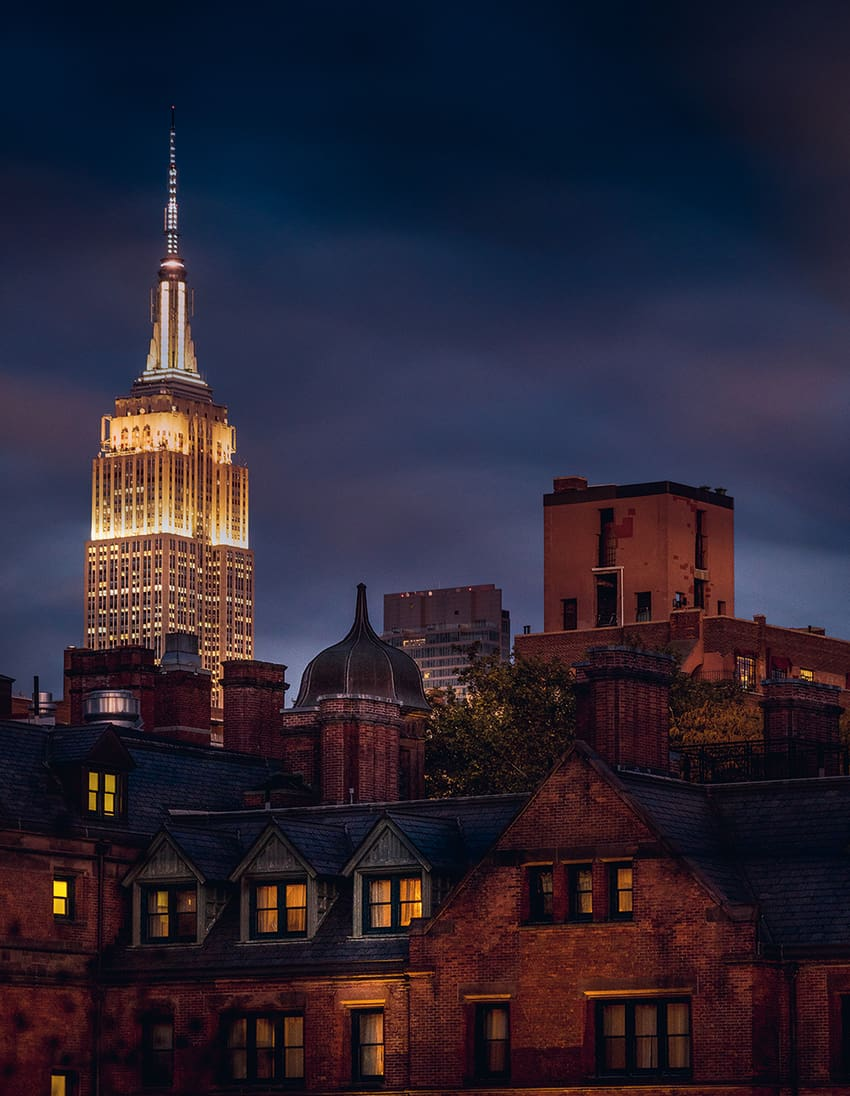 A view of the Empire State Building from the High Line.