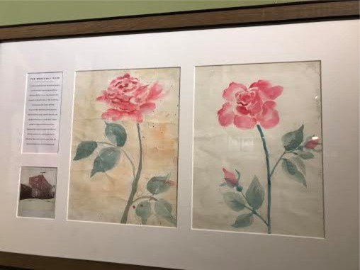 The sketches Alejandros father made for the mural on the businesses building, 15 years prior to Alejandros purchase of the structure.