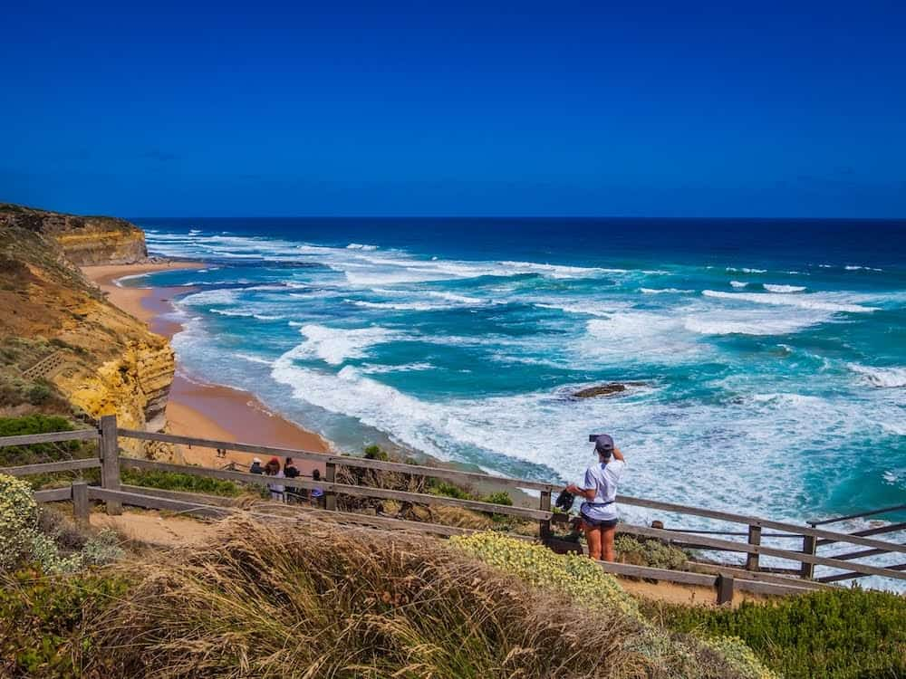 The Gibson Steps in Port Campbell National Park, Victoria. Only two minutes drive from 12 Apostles! Australia