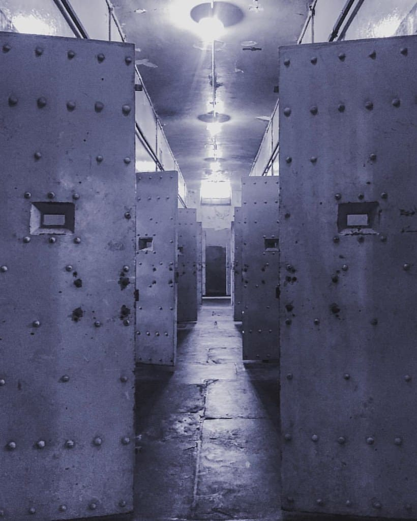 Open cells inside Constitution Hill's prison.