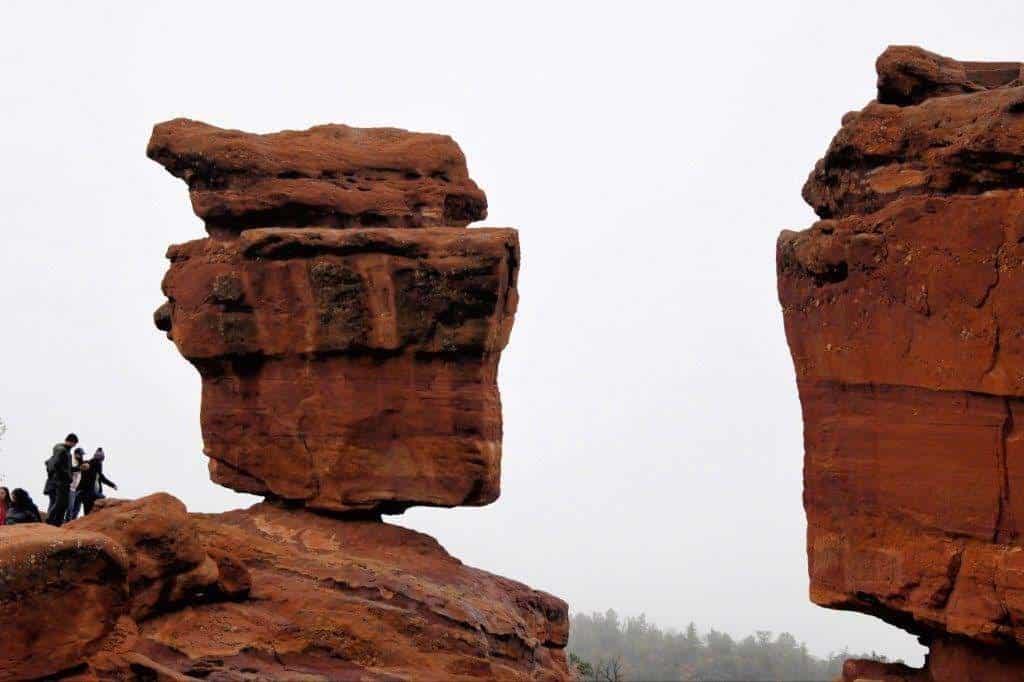 Balanced Rock, Garden of the Gods in Colorado.