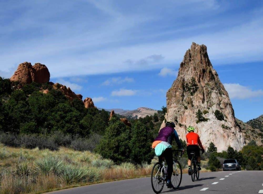 Bicycling through the Garden of the Gods