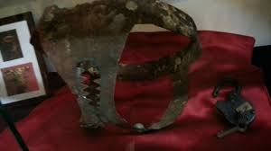 A chastity belt from the Curiosity museum; glad these are out of fashion; they made break-up very difficult.