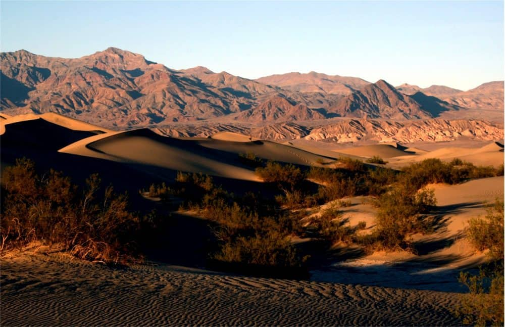 Death Valley National Park is one of the hottest places on earth; don't forget to pack plenty of water!