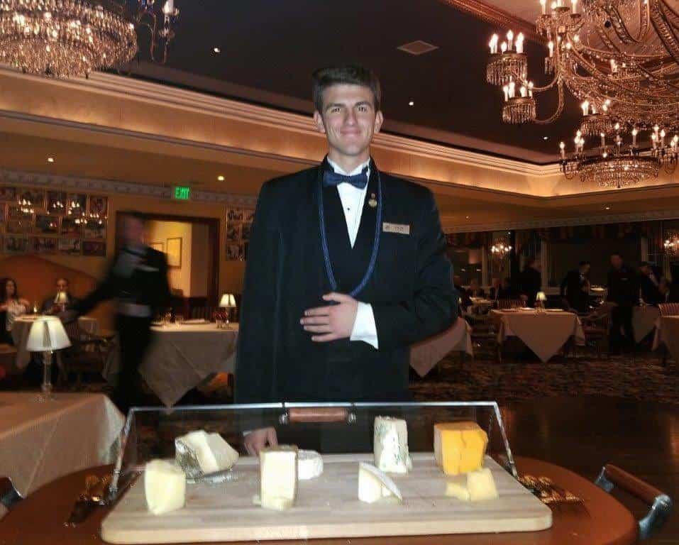 The cheese course is served at Penrose restaurant at the Broadmoor.
