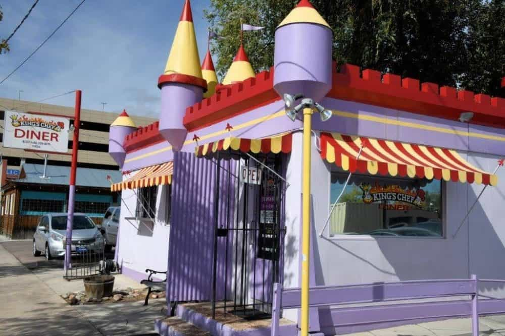 The cute King's Chef Diner, original location in Manitou Springs.