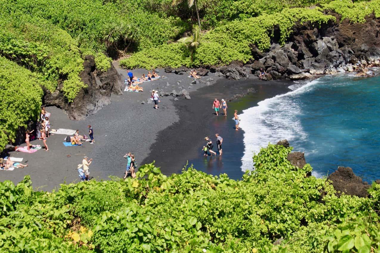 Waianapanapa Beach Hana. Maui