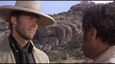 A scene with Clint Eastwood from The Good, the Bad and the Ugly, parts of which were filmed at the Sad Hill Cemetery in Spain.