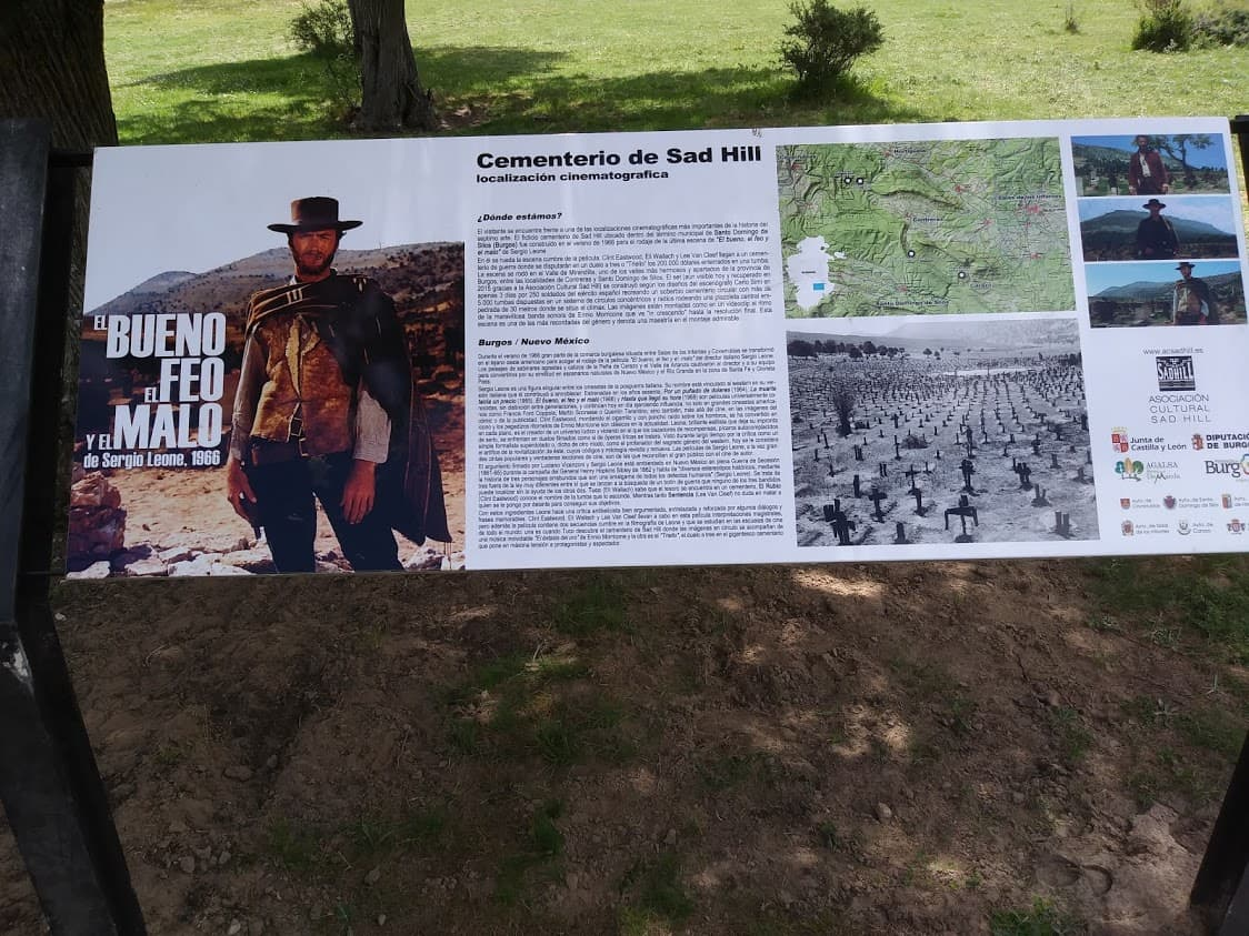 "Signage at the site where the finale of ""The Good, the Bad and the Ugly"" was filmed more than 50 years ago calls it ""one of the most important cinematographic locations in the history of film."""