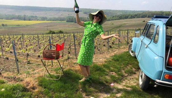Anna Meteyer celebrates the good life in her vineyards in Aisne, France.