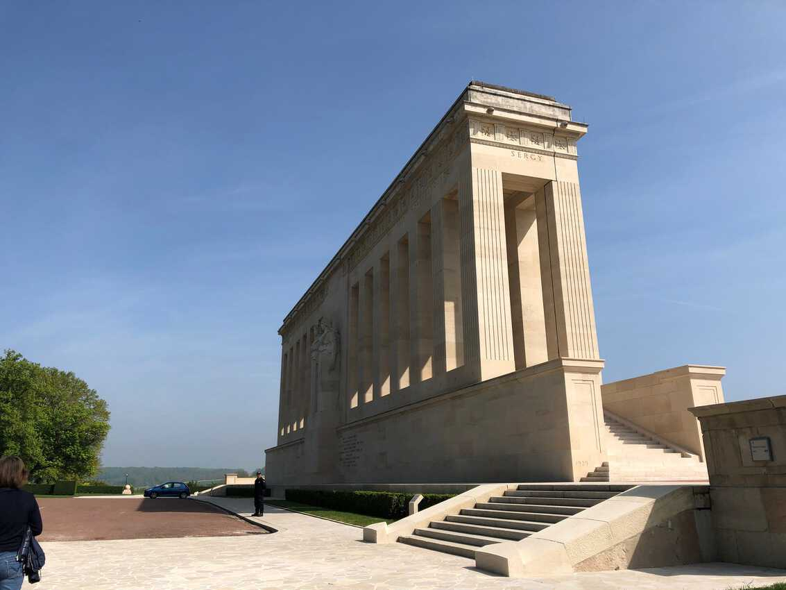 Memorial to the American and French armies for World War I