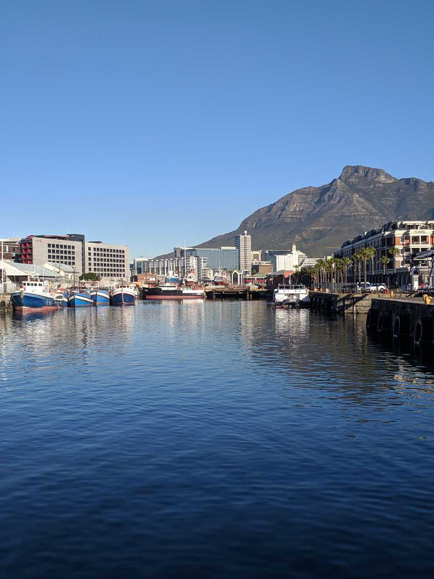 Sunny day in Cape Town.