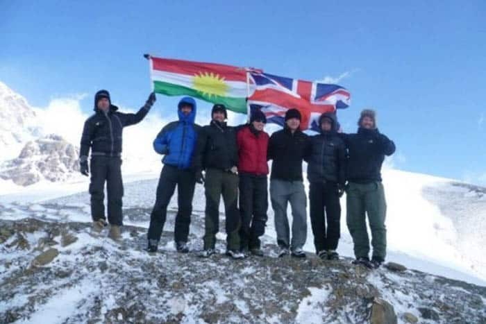 A successful journey to the top hiking in Iraq.