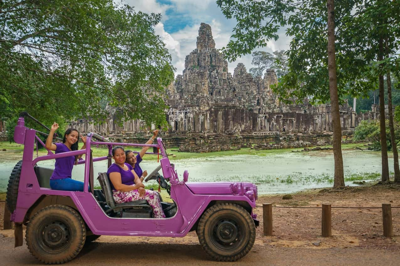 Lavender Jeeps help local woman in Cambodia...and are a great way to see this beautiful country.