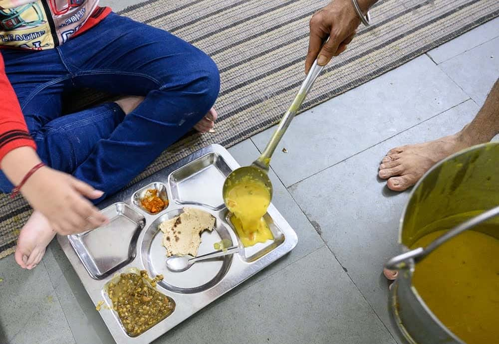 Those partaking in the meals at the Sikh Temple are welcome to as many helpings as they like, there is no limit.