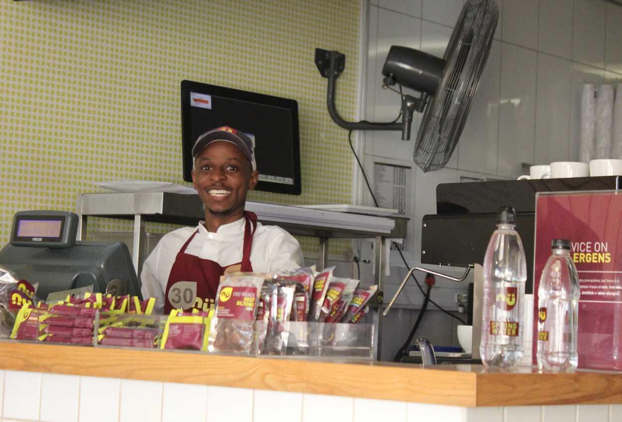 Sibusiso at nu restaurant.