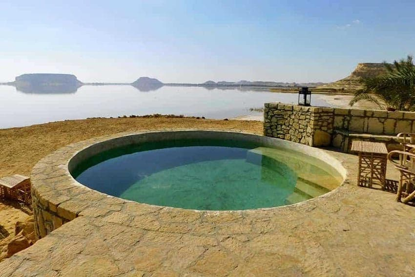 The waters at The Relax Resort, Siwa.
