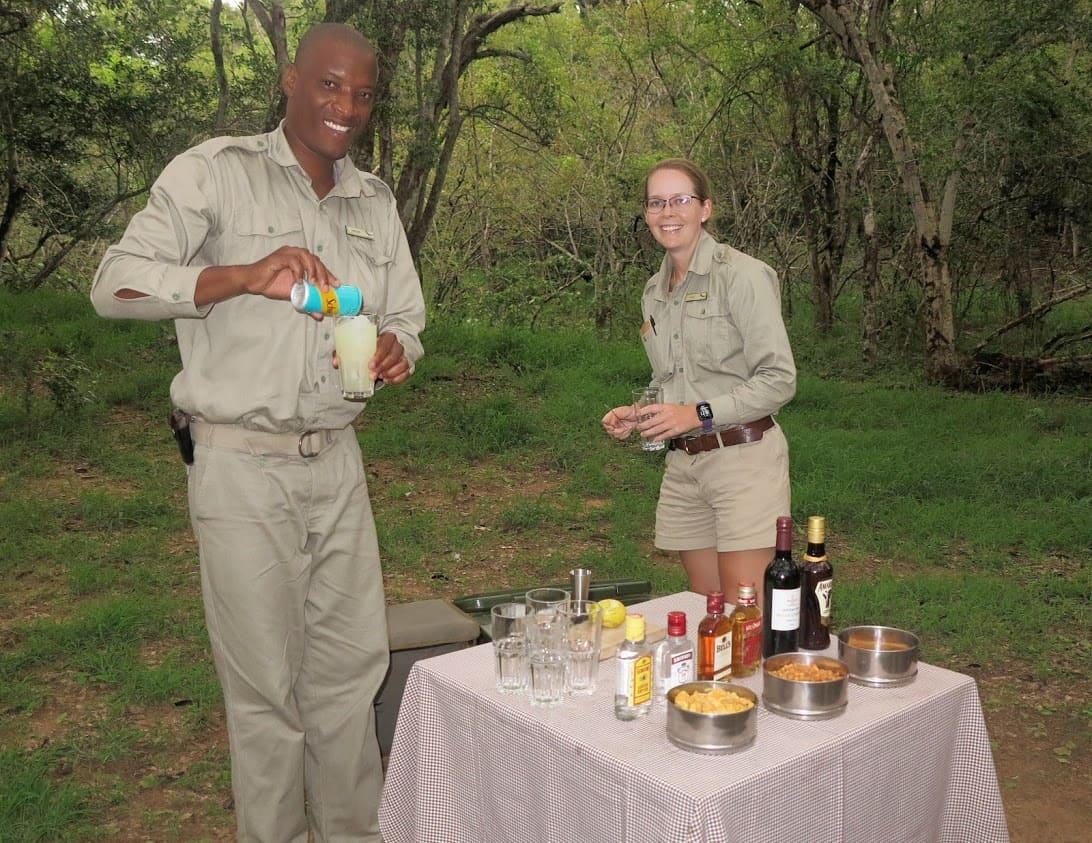 Shaken not stirred: Sundowners and snacks in the bush