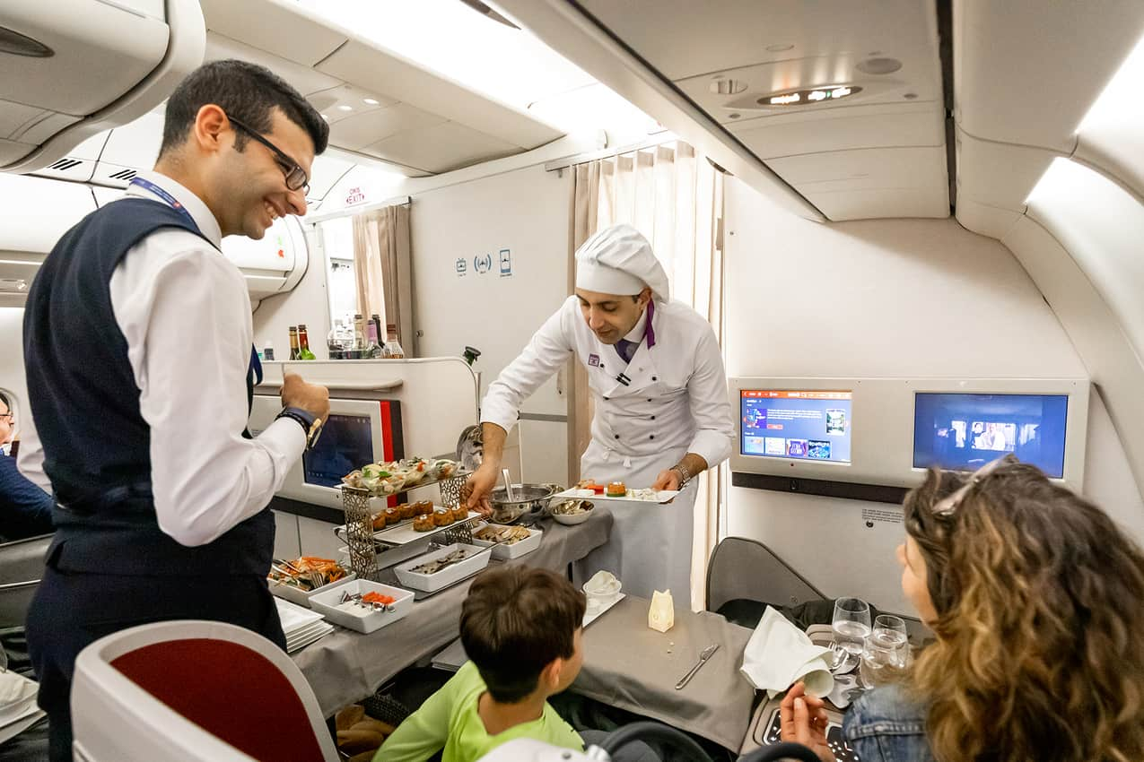Flying Chef, Hakan Erisen. Turkish Airlines business class.