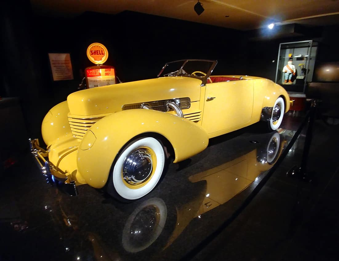 1936 Cord Sportsman in the Automotive Gallery, Blackhawk Museum, Danville CA.