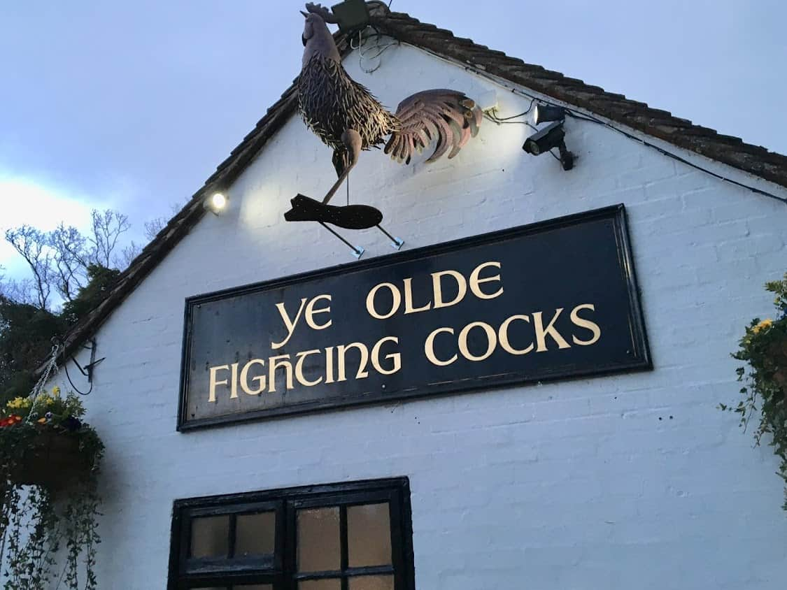 The oldest pub in England, Ye Olde Fighting Cocks in St. Albans