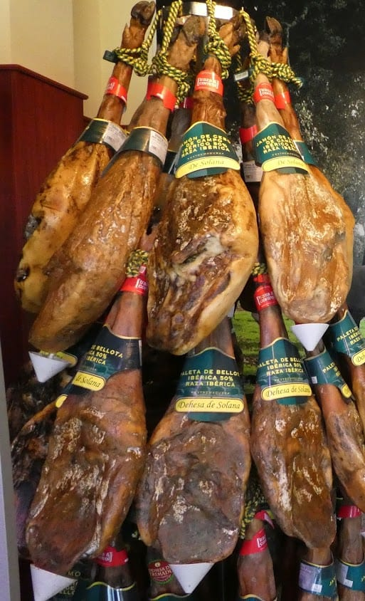 Aged jamon Iberico farm to table in Extremadura ready to sell.