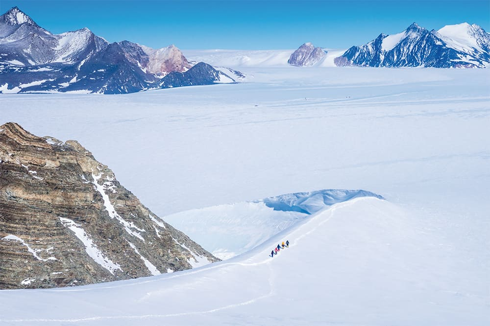 Mountaineering in the Ellsworth Mountains in Antarctica
