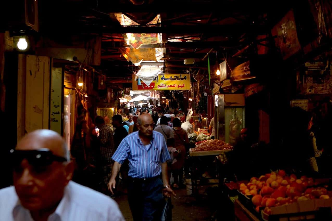 A tunnel view of one of Tripoli's ancient souks.