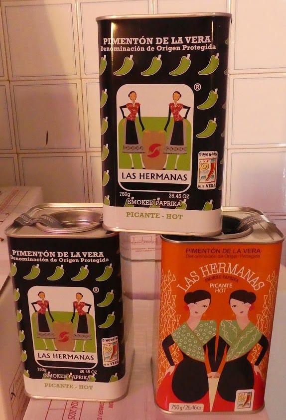 Three types of Las Hermanas pimenton (paprika)
