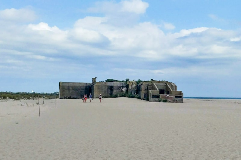 A WWII bunker is just one of the oddities remaining on the shore of Cape May