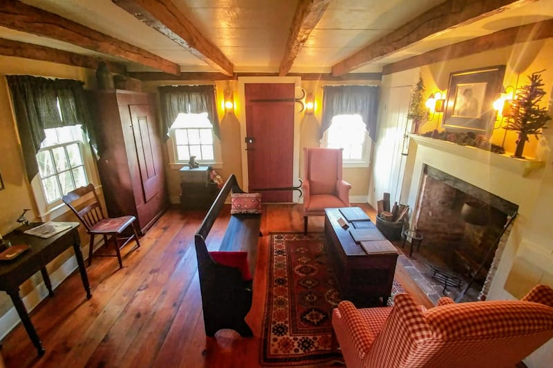 A glimpse inside the Coachman House on The Underground Railroad Tour in Cape May.