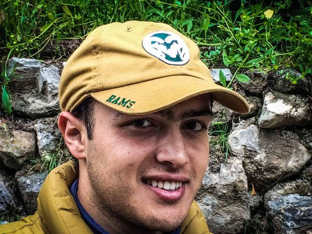 My guide, Bahodur Rahmatilloev, in Tajikistan.