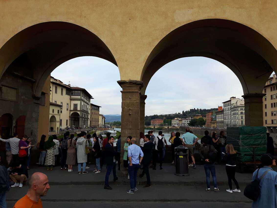Come early or jostle for a spot on the Ponte Vecchio in Florence.