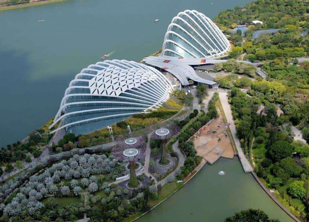 Sky view of Gardens by the Bay