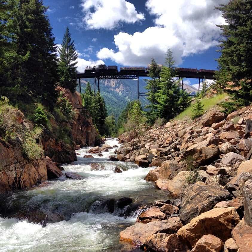 Georgetown Loop Railroad in Colorado.