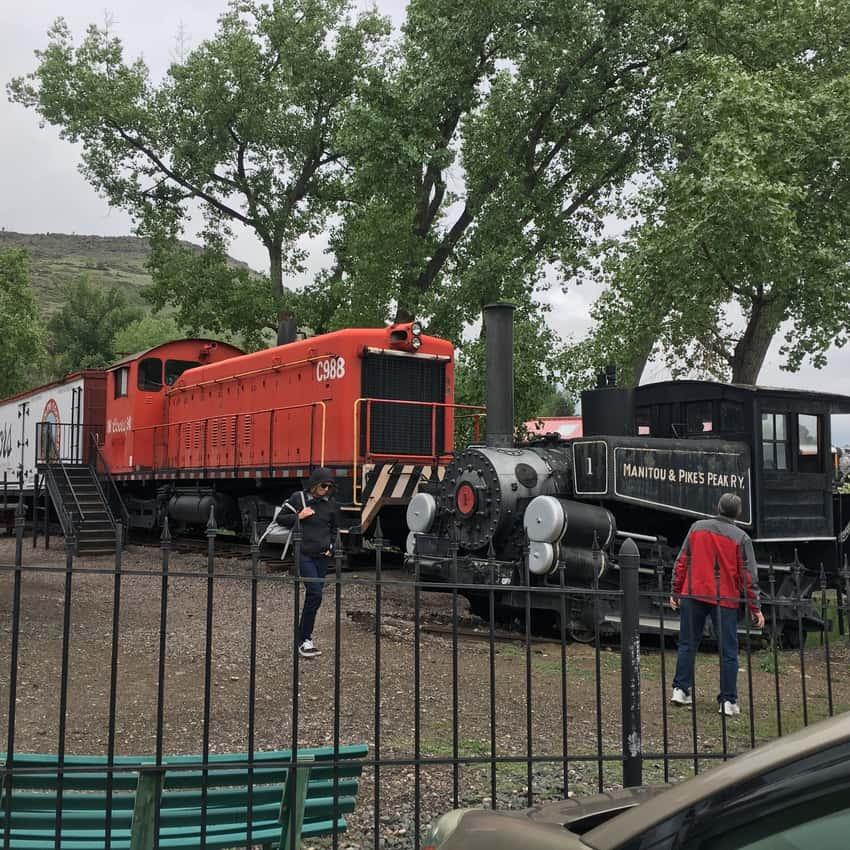 Trains at the Colorado Rail Museum. Max Hartshorne photo.
