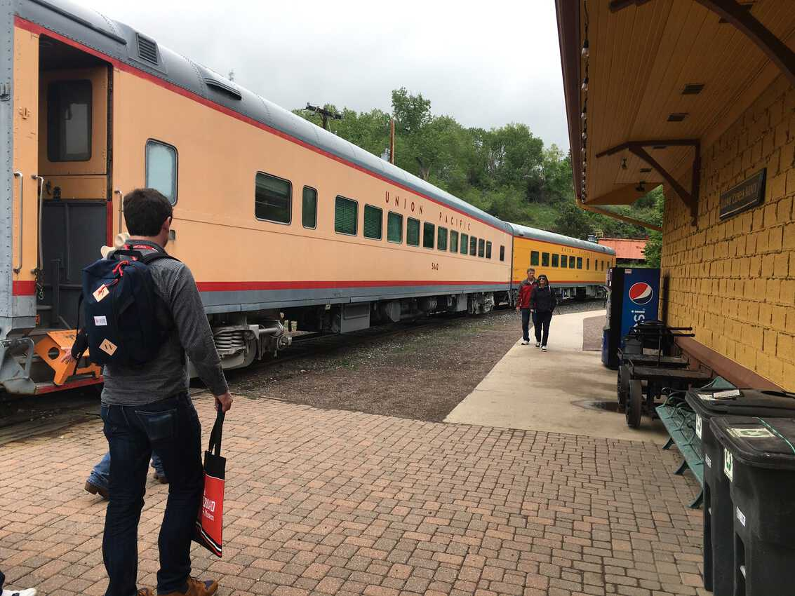 At the Colorado Rail Museum,not only can you ride a real train, you can view an incredibly long model train.