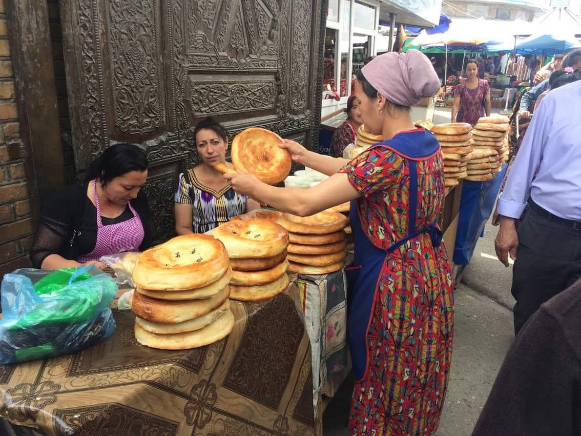 The bazaar in Penjikent.