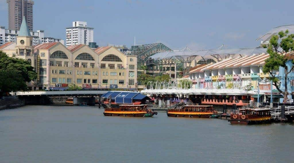 Robertson Quay on the Singapore River