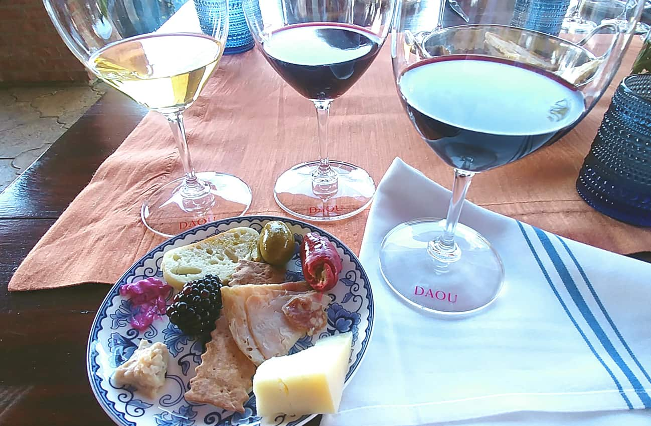 Food and wine pairing at DAOU, Paso Robles CA.