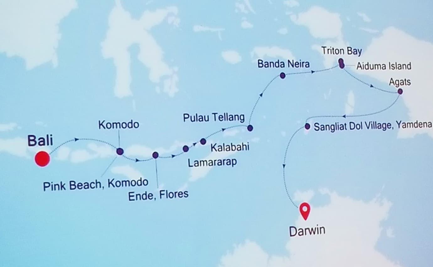 Indonesia Cruising. Visiting 12 islands in the vast archipelago.