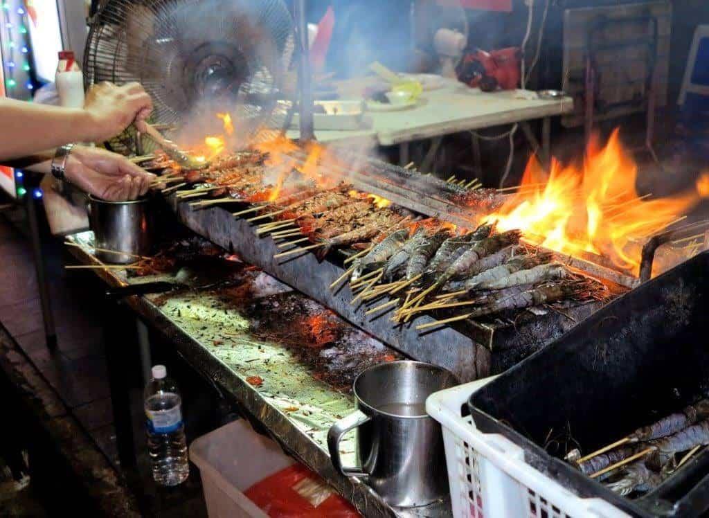 Satay's rule in Singapore's night market