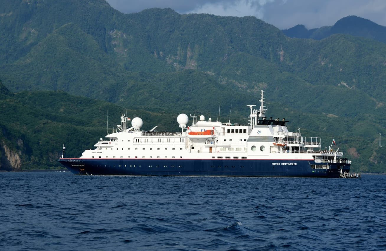 Indonesia cruising in the luxurious expedition ship.