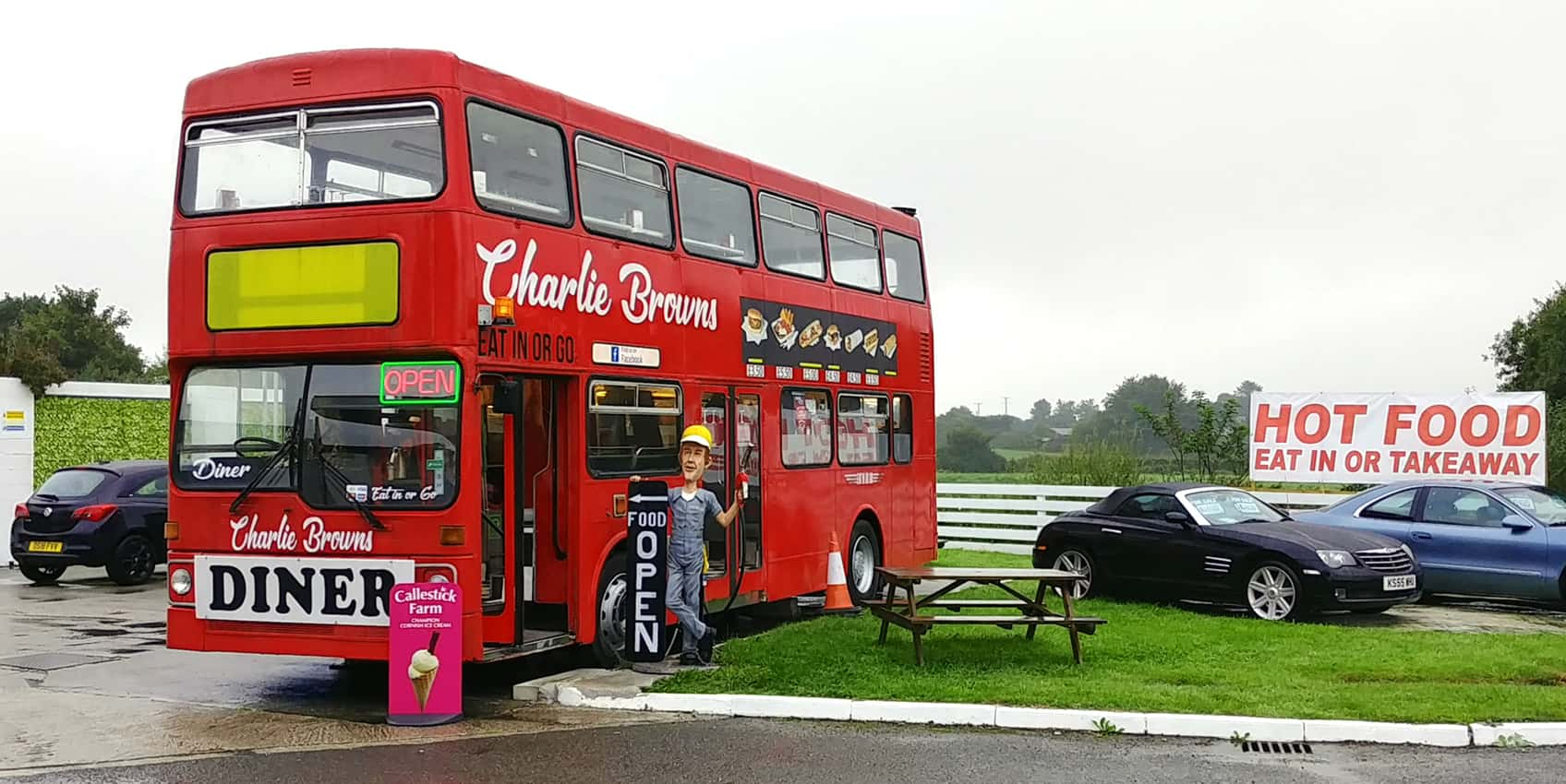 Tea-time on the Thruway in rural England.