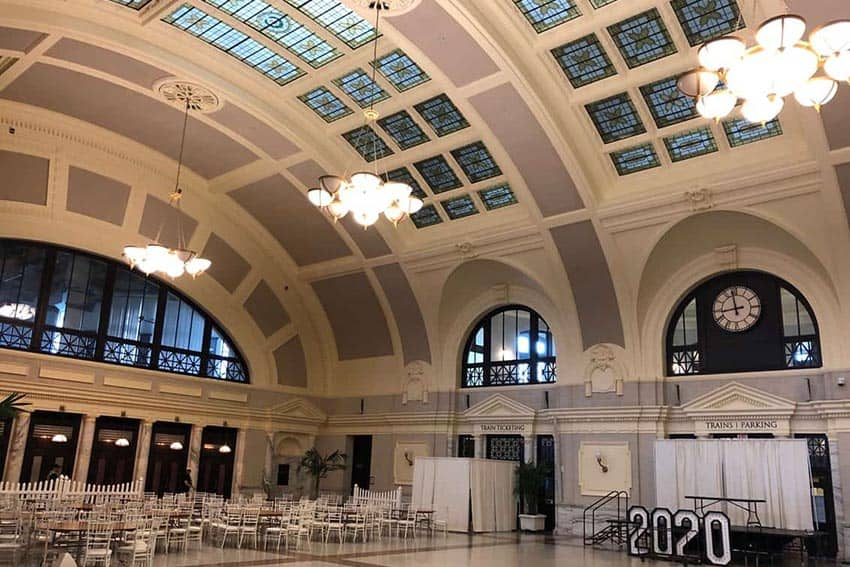 Inside the beautifully-restored Union Station, Worcester. Trains to Boston make the city a perfect commuting home base.