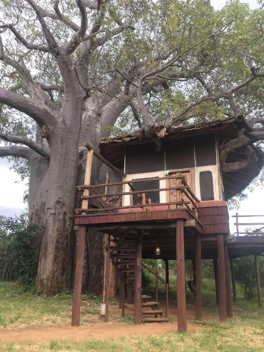 Tanzania safari: Our room at the Tarangire Treetops Hotel