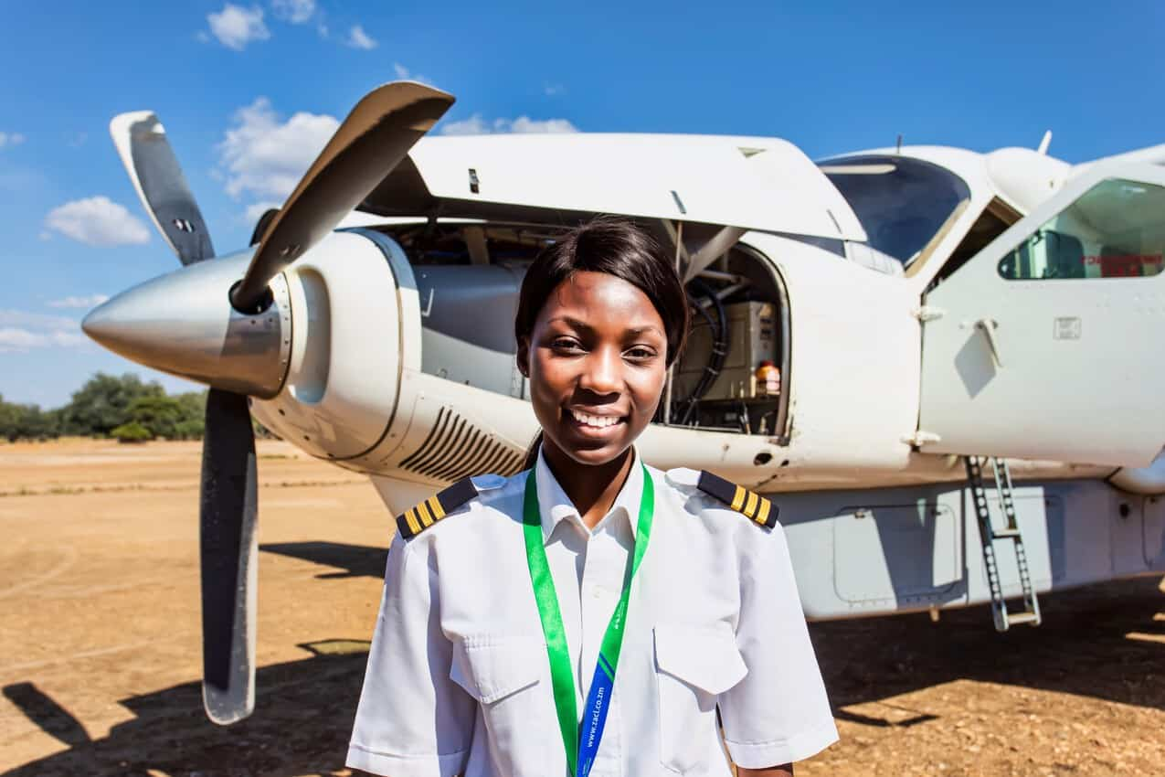 Besa Mumba, an aircraft captain who flies visitors around Zambia, delivering them to their dream vacation.
