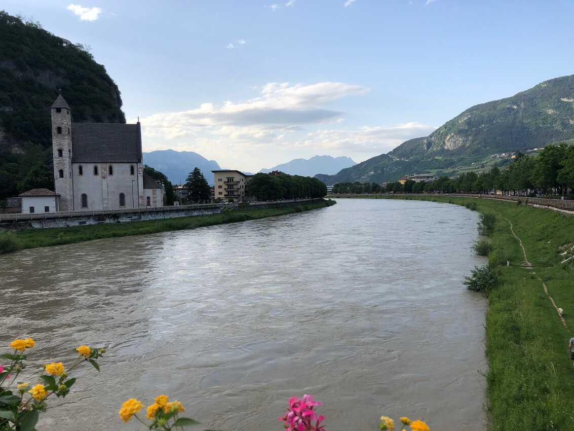 Adige River in Trentino.