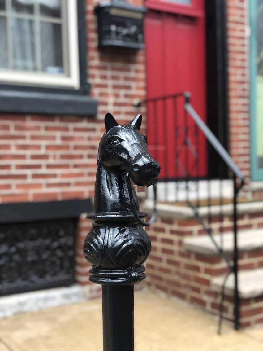 Remnants of the past - hitching posts can be seen everywhere in Philadelphia